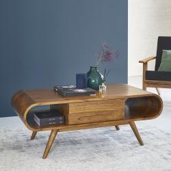 Table basse en bois de mindy 120 FIFTIES