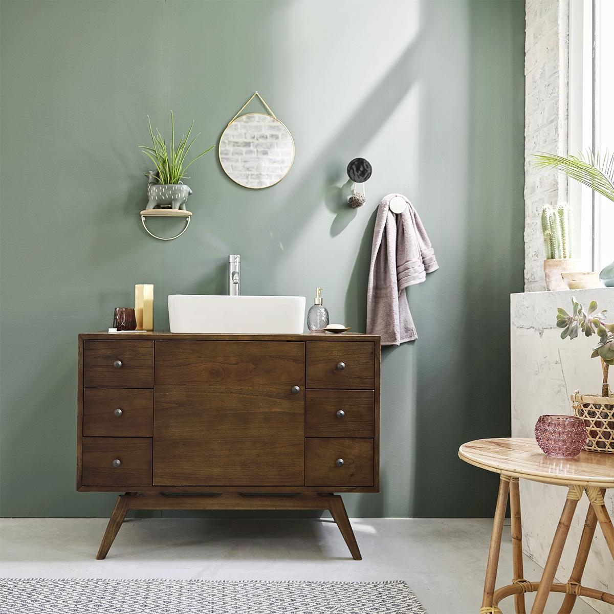Meuble Salle De Bain Largeur 100 meuble de salle de bain en bois de mindy 100 vintage   bois