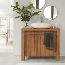 Meuble de salle de bain en bois de teck 103