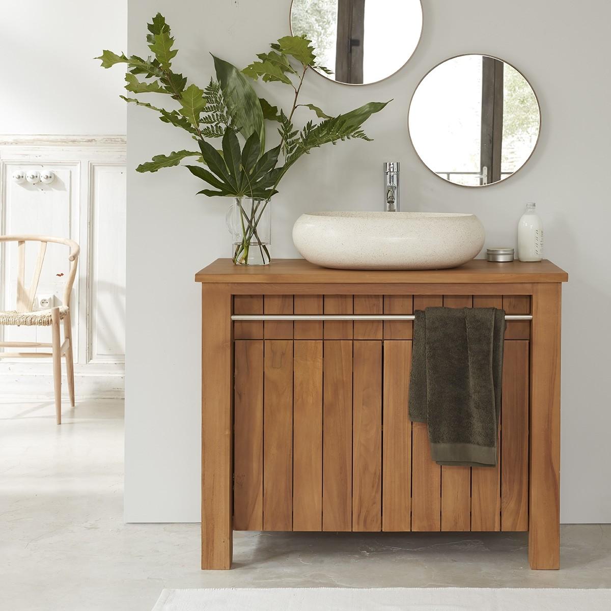 Meuble de salle de bain en bois de teck 17 PORTO