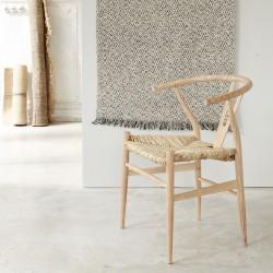 Chaise en bois de mindy assise tissée