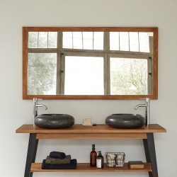 Miroir en bois de teck 150 cm