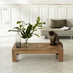 Table basse en bois de teck recyclé 120 CARGO