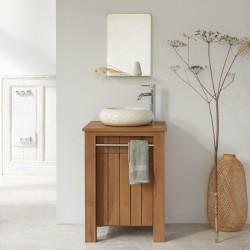 Meuble de salle de bain en bois de teck 60