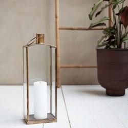 Lanterne en laiton vieilli