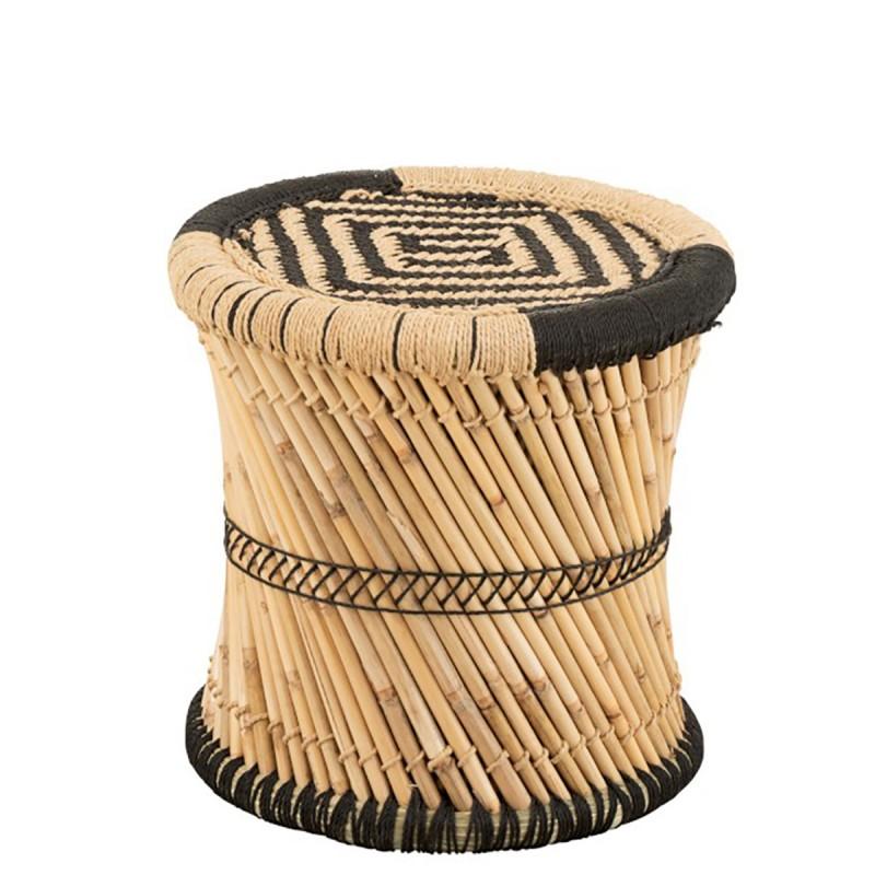 Tabouret en bambou et métal