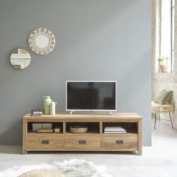 Meuble TV en bois de teck recyclé CARGO 160cm