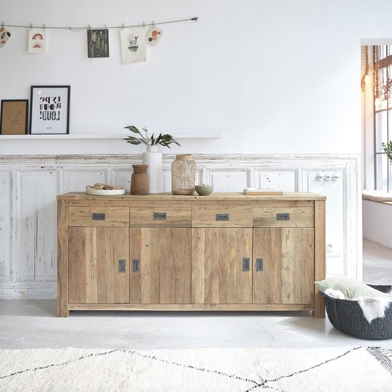 Buffet en bois de teck recyclé CARGO 200 cm