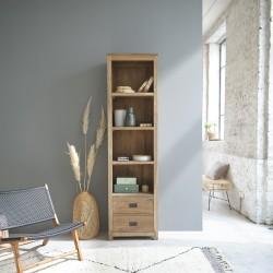 Bibliothèque en bois de teck recyclé CARGO 60 cm