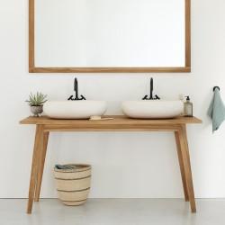 ensemble de salle de bain en bois de teck 150 cm