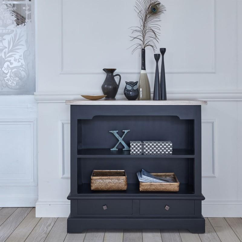 Table console en bois d'acajou et teck LONDRES 96 cm